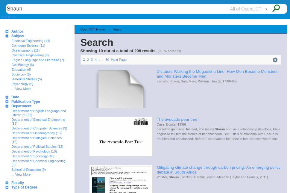 Customise DSpace Search